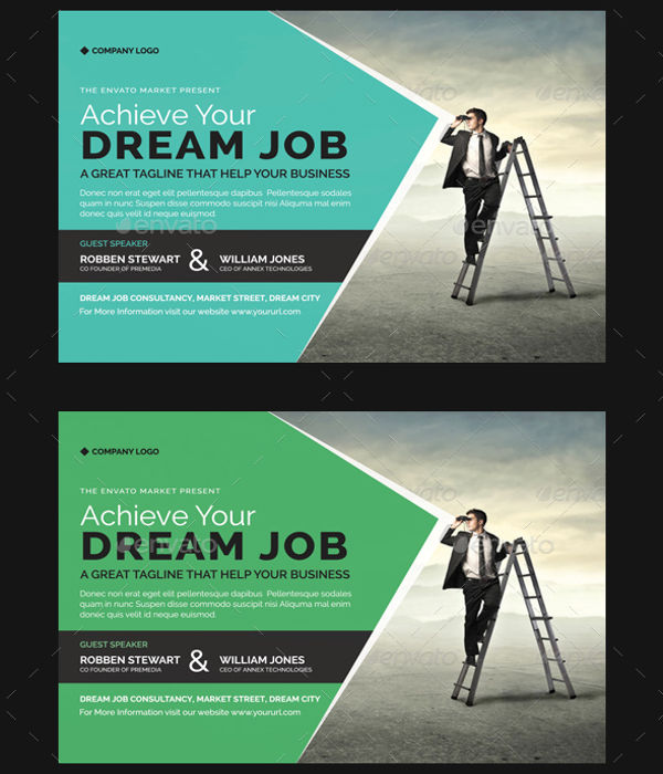 job conference advertising flyer