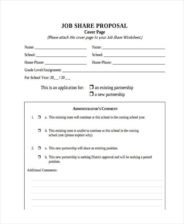 job share proposal