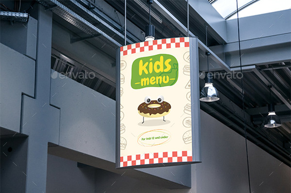 kids food advertising design