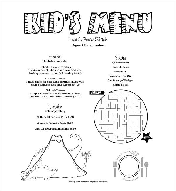 kids holiday menu1