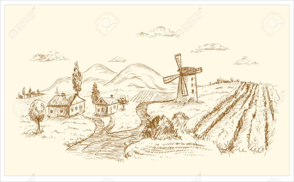 landscape graphic illustration