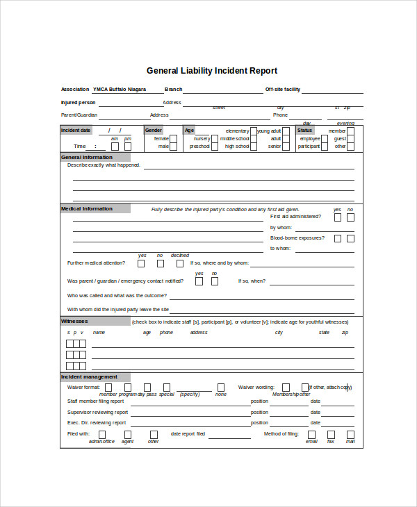 liability incident report
