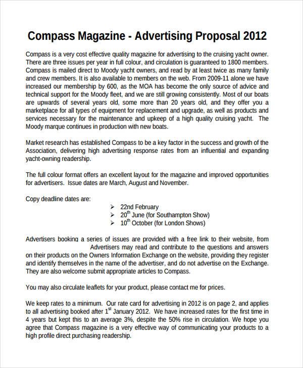 magazine advertising proposal1