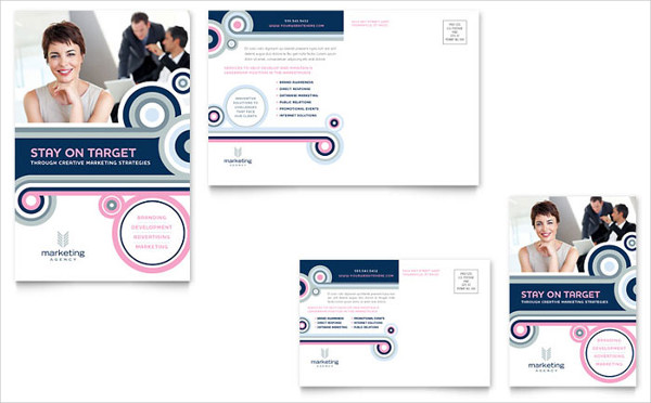 marketing agency postcard design