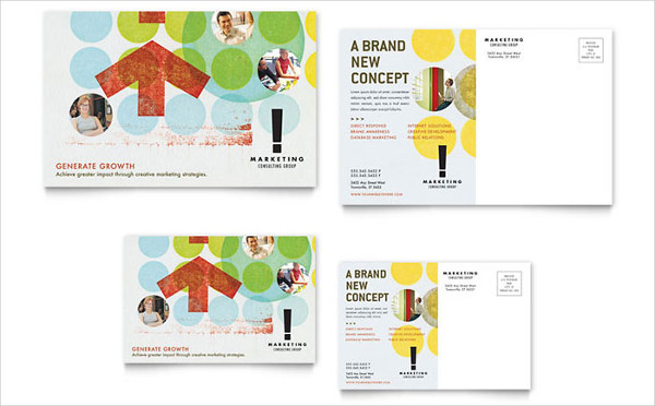 marketing consultant postcard design