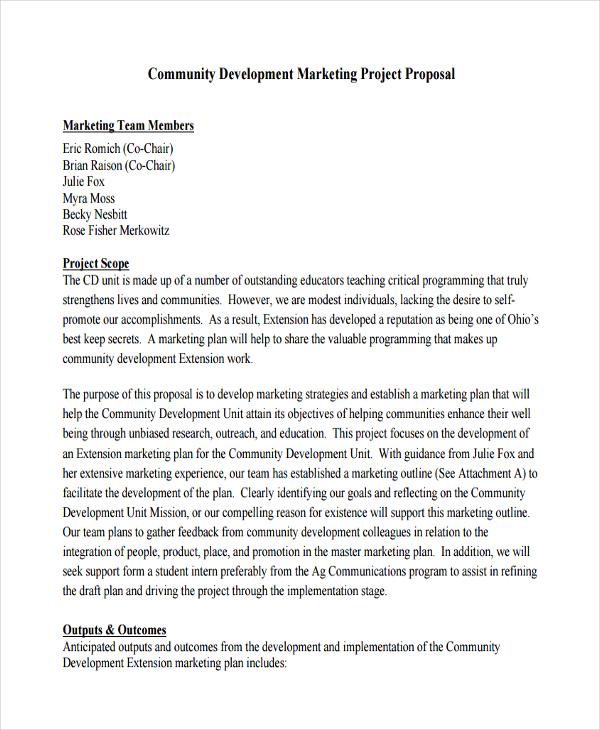 marketing project proposal1