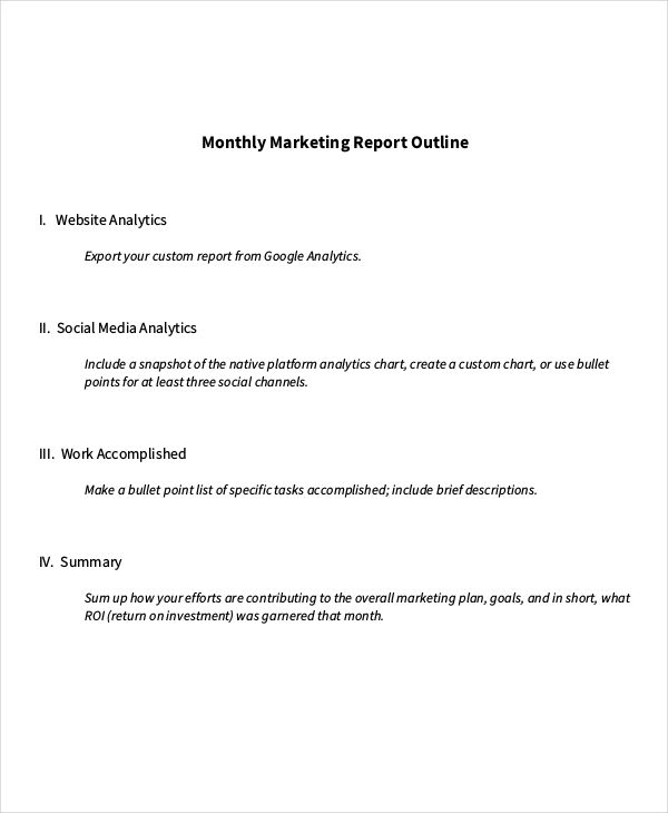 Marketing Report Examples Samples