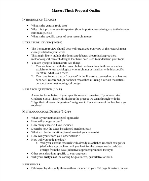 Literature review in thesis proposal