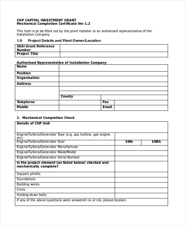 Building completion certificate sample for Jct practical completion certificate template