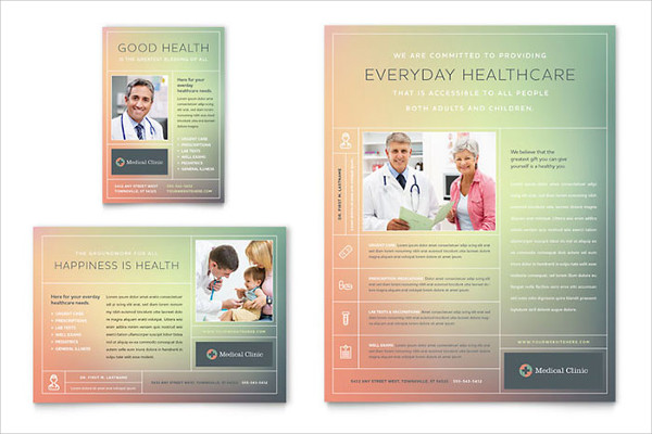 medical clinic advertising flyer