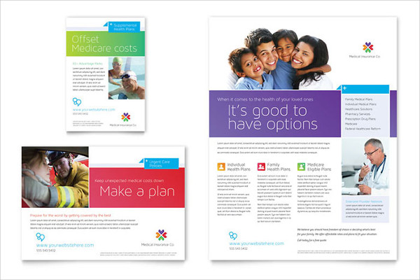 medical insurance advertising flyer