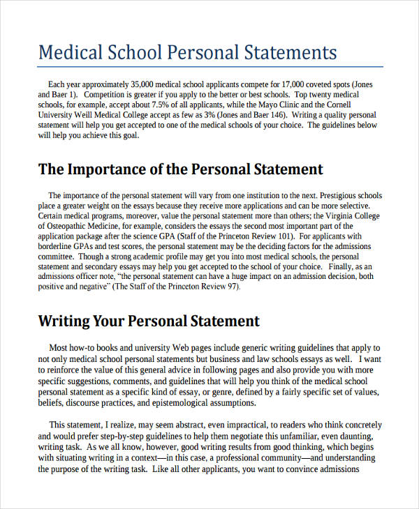 Med school personal statement writing service a good