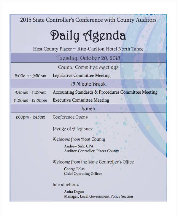 meeting agenda5