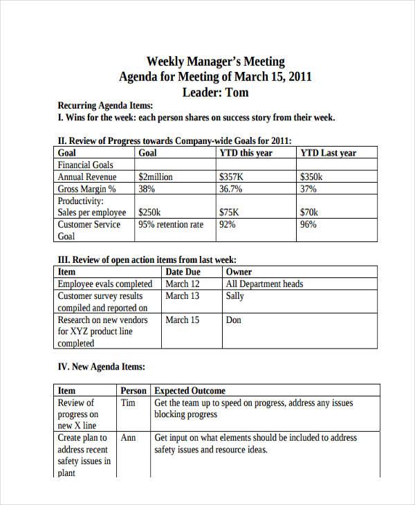 meeting agenda6