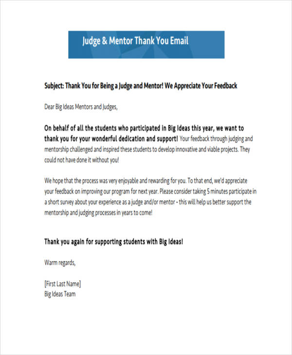 ThankYou Email Examples Samples