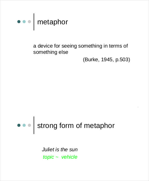 metaphor analysis