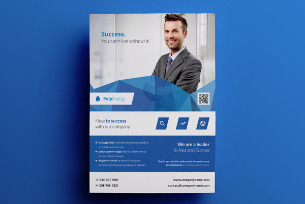 minimal business advertising flyer