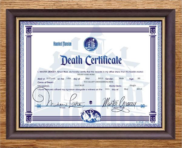 modern death certificate