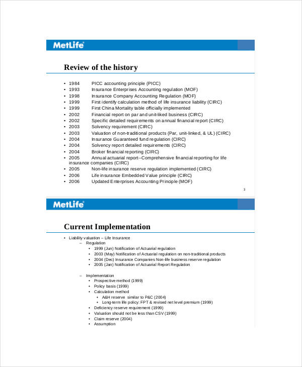 Monthly Business Report  Business Monthly Report