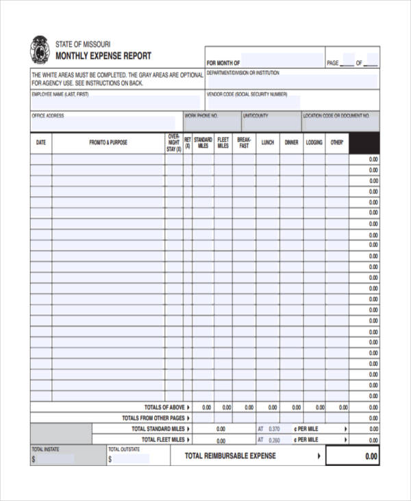 10+ Expense Report Examples, Samples