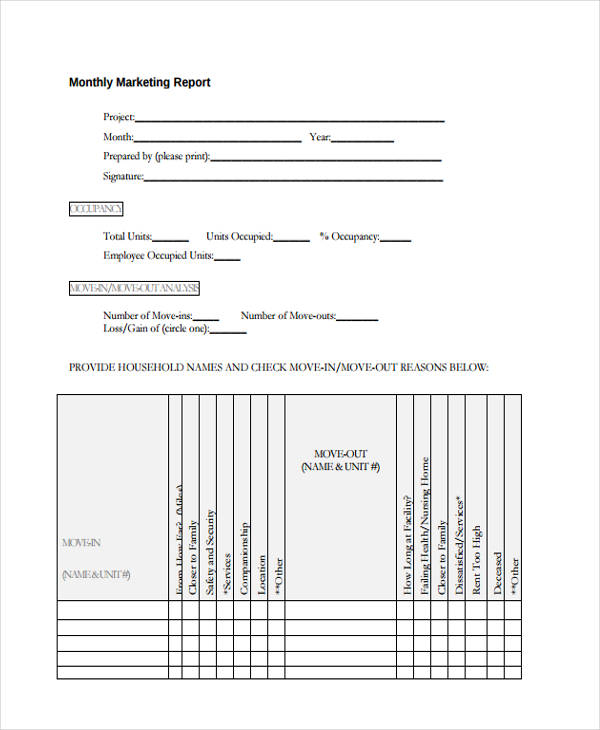 14 Monthly Report Examples Samples PDF Word