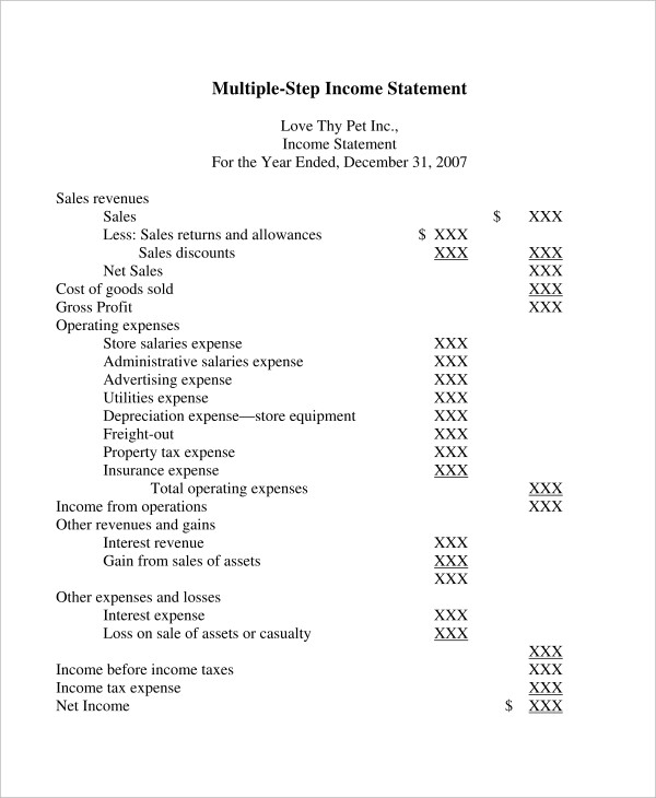 multi step income