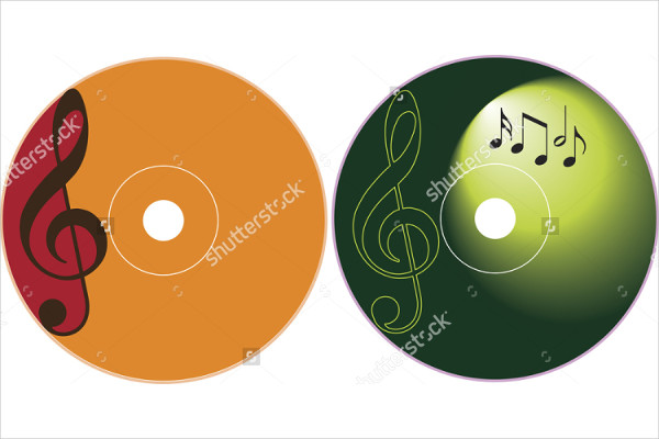 music cd label design