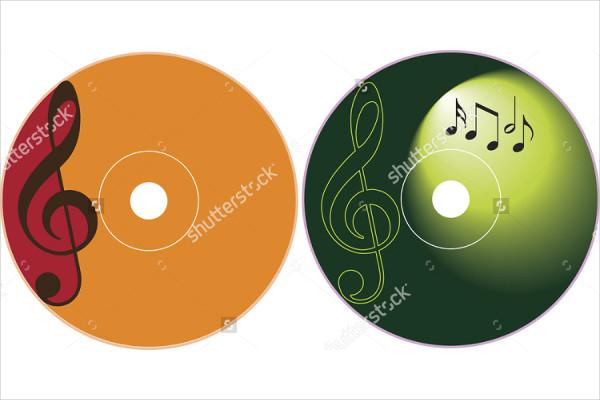 Music CD Label Design