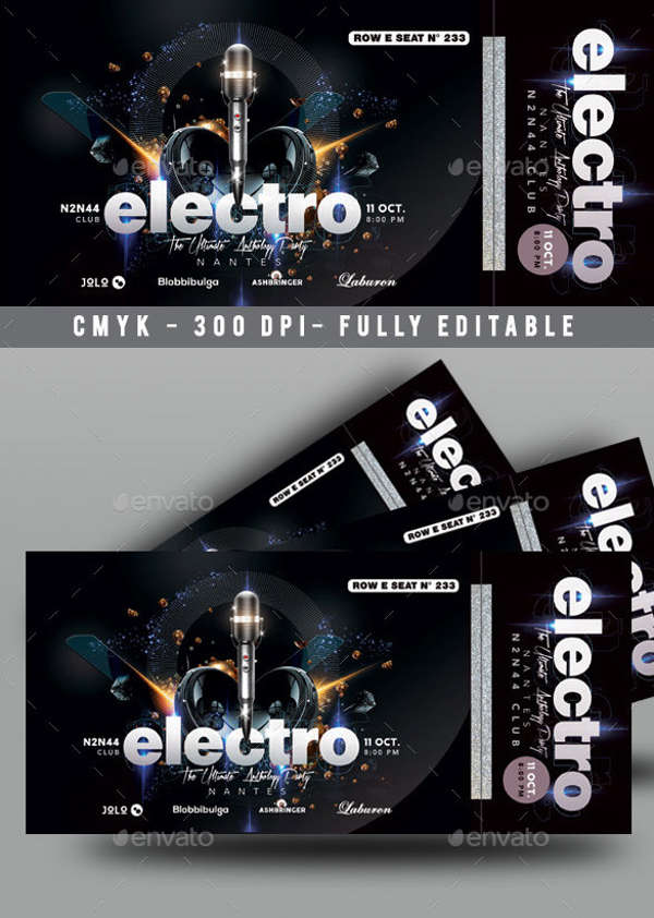 16 ticket designs examples psd ai vector eps