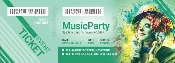 Music Event Ticket Design