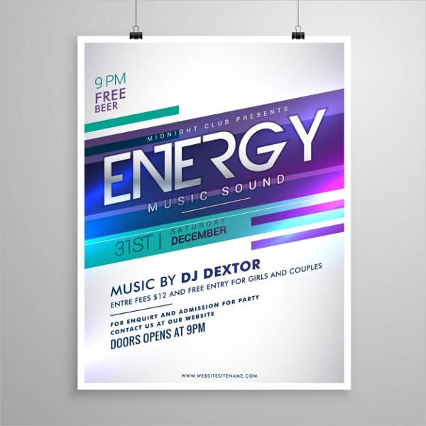 music party poster design