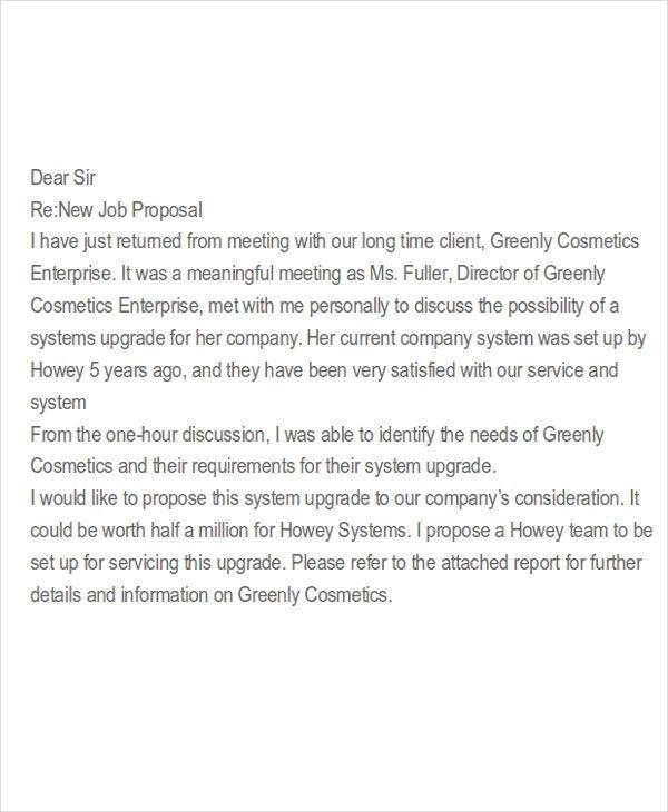 job proposal letter sample
