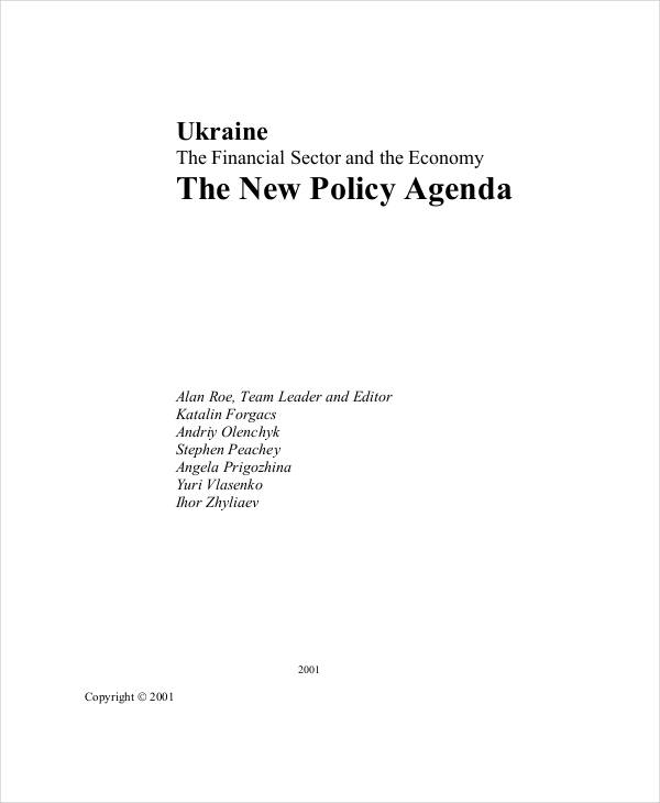 Policy Agenda Examples Samples