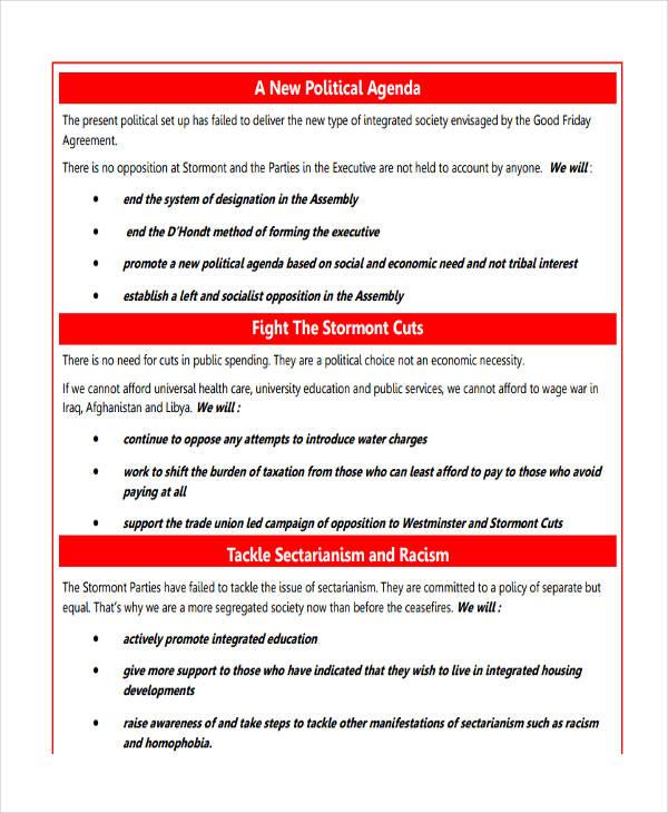 Agenda Examples In Pdf