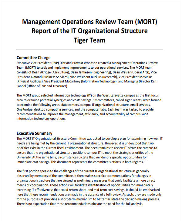25 Management Report Examples Pdf Word Apple Pages