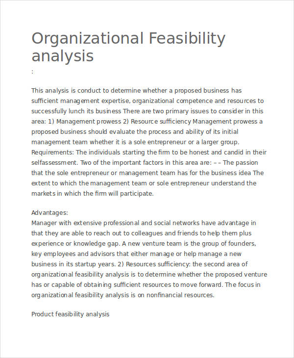 Example of an Operational Feasibility Study - What Should ...