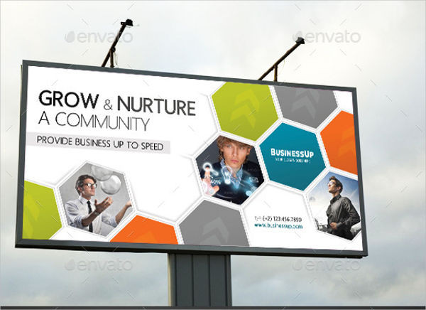 outdoor business advertising banner