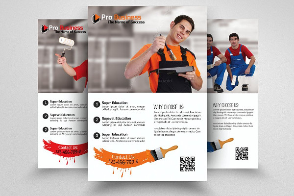 painting contractor advertising flyer
