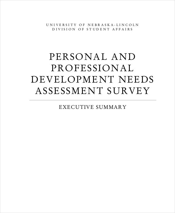 personal development needs