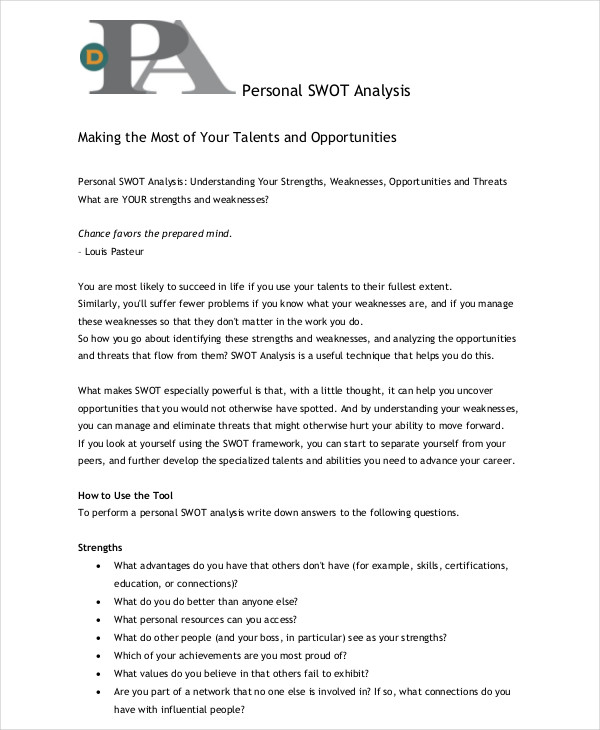 personal swot analysis1