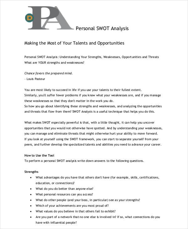 personal swot analysis1