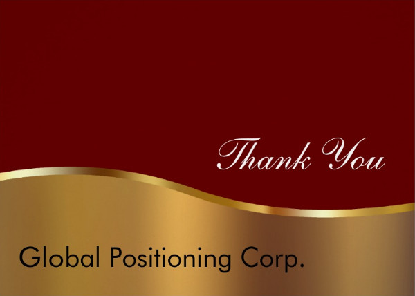 personalized corporate thank you card