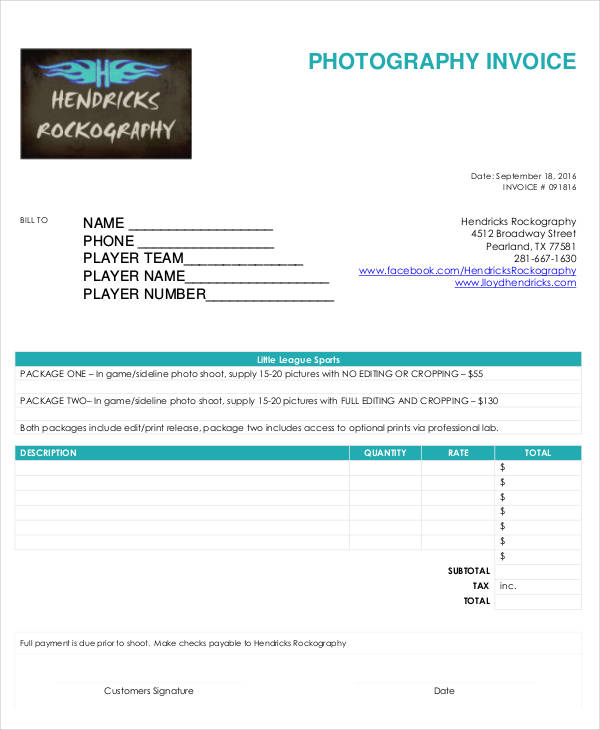 27+ Free Invoice Examples