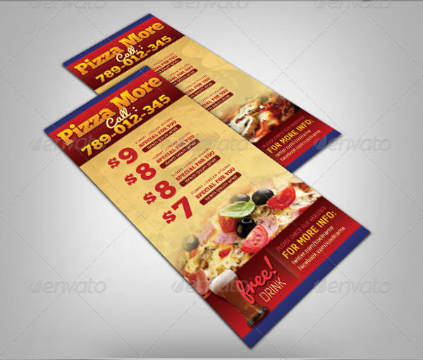 pizza restaurant rack card