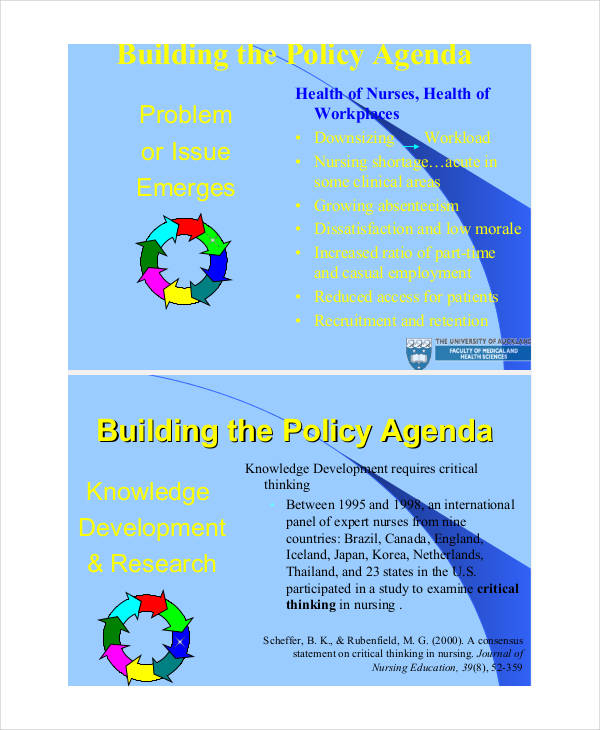 policy cycle agenda