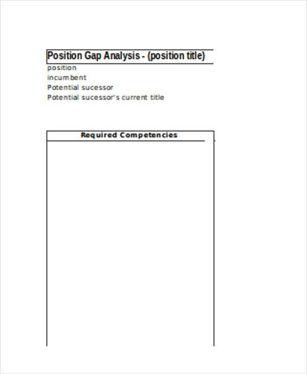 position gap