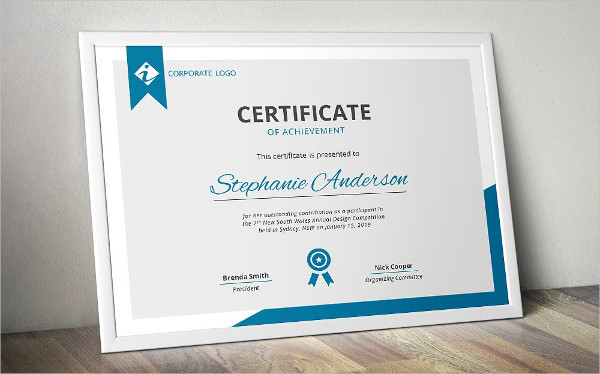 sample certificate of achievement