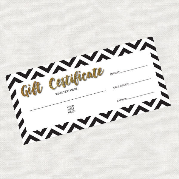 printable gift certification