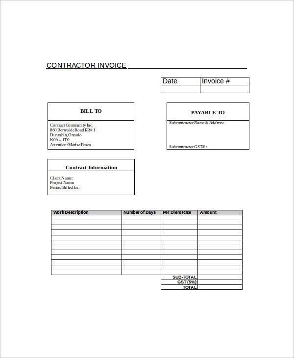 printable invoice1
