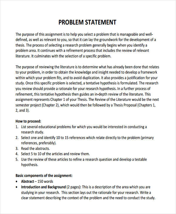 problem statement in pdf